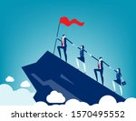 business people together to...   Shutterstock .eps vector #1570495552