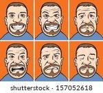 vector illustration of bearded... | Shutterstock .eps vector #157052618