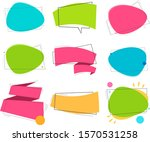 set color ribbon and bubble.... | Shutterstock .eps vector #1570531258