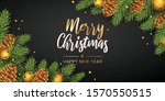 merry christmas and happy new... | Shutterstock .eps vector #1570550515