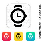 wristwatch icon. vector...