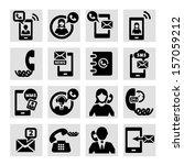 elegant vector black phone... | Shutterstock .eps vector #157059212