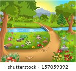 path into the forest | Shutterstock .eps vector #157059392