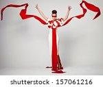 emotional portrait of fashion... | Shutterstock . vector #157061216
