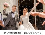 Happy wedding photography of...