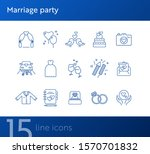 marriage party icons. set of...