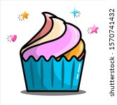 cupcake design for any purposes.... | Shutterstock .eps vector #1570741432