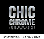 vector chic chrome font.... | Shutterstock .eps vector #1570771825