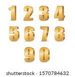 gold 3d numbers. symbol set.... | Shutterstock .eps vector #1570784632