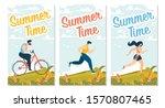 summer time motivational flyers ... | Shutterstock .eps vector #1570807465