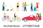 happy people travelling ... | Shutterstock .eps vector #1570807468