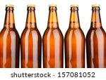 beer bottles isolated on white | Shutterstock . vector #157081052