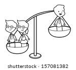 businessman balance   Shutterstock . vector #157081382