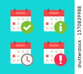 calendar icons set with alert... | Shutterstock .eps vector #1570839988