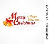 merry christmas hand lettering... | Shutterstock .eps vector #157085645