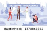 wedding photo session flat... | Shutterstock .eps vector #1570868962