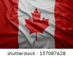 waving colorful canadian flag | Shutterstock . vector #157087628
