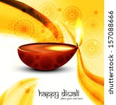 beautiful diwali lamp creative... | Shutterstock .eps vector #157088666