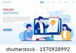 online mentoring landing page... | Shutterstock .eps vector #1570928992