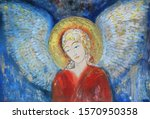 Christmas Angel. Drawn Picture...