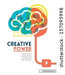 creative brain idea concept... | Shutterstock .eps vector #157095998