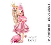 Cute Princess Girl In The Pink...