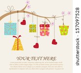 vector card with birthday gift | Shutterstock .eps vector #157097528