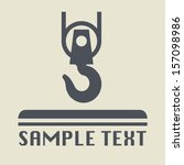 Crane Hook Icon Or Sign  Vecto...