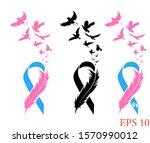 awareness cancer ribbon  ...   Shutterstock .eps vector #1570990012