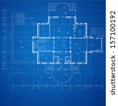 urban blueprint  vector .... | Shutterstock .eps vector #157100192