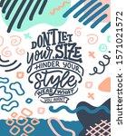 body positive lettering slogan... | Shutterstock .eps vector #1571021572