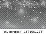 snowfall. snowflakes background.... | Shutterstock .eps vector #1571061235