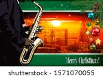 christmas red green... | Shutterstock . vector #1571070055