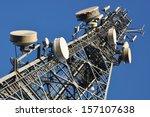 telecommunication tower   | Shutterstock . vector #157107638