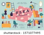 vector illustration flea market ... | Shutterstock .eps vector #1571077495