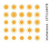 sun icon set. orange summer... | Shutterstock .eps vector #1571118478