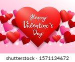 happy valentine's day card... | Shutterstock .eps vector #1571134672