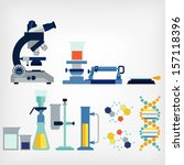 set of laboratory | Shutterstock .eps vector #157118396