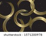 japanese brush circle and black ...   Shutterstock .eps vector #1571200978