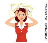 stressed and frustrated... | Shutterstock .eps vector #1571231962