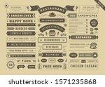 restaurant menu typographic... | Shutterstock .eps vector #1571235868