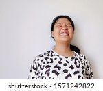 portrait of a happy smiling... | Shutterstock . vector #1571242822