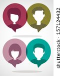 people chatting | Shutterstock .eps vector #157124432
