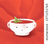 tomato soup red illustration... | Shutterstock . vector #1571251765