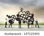 conceptual image of... | Shutterstock . vector #157125392