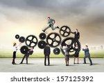 conceptual image of... | Shutterstock . vector #157125392
