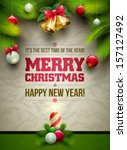 vector christmas messages and... | Shutterstock .eps vector #157127492