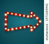 retro arrow banner. advertising ... | Shutterstock . vector #1571335942
