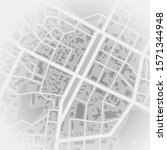 abstract city map. print with... | Shutterstock . vector #1571344948
