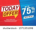 sale banner template design ... | Shutterstock .eps vector #1571351098